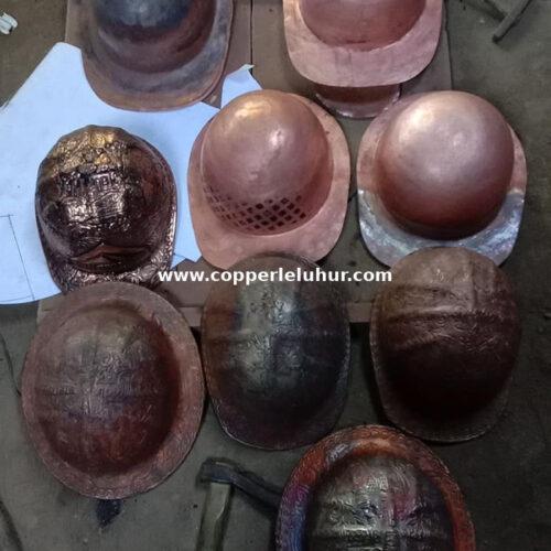 Pengrajin helm tembaga dan kuningan boyolali